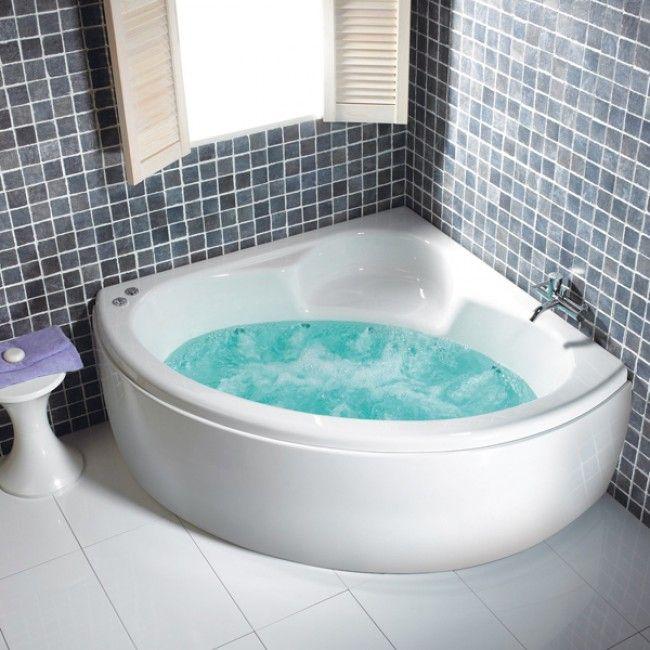 Carron Monarch Carronite 1300 x 1300 Corner Whirlpool Bath ...