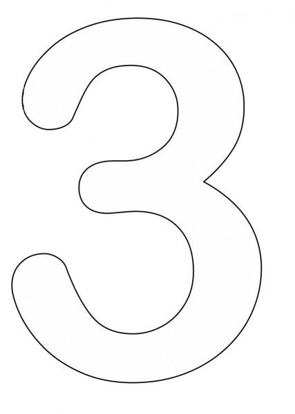 3 Template Preschool Number Crafts Coloring Pages Numbers