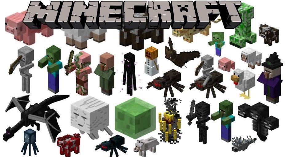 Minecraft Mobs 930x511 Mobs Minecraft Minecraft Personagens E