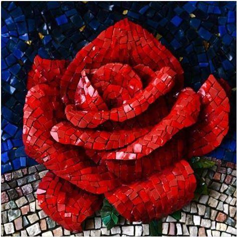 Mosaic By G 252 Lfem Can Mosaic Flowers Mosaic Art Mosaic