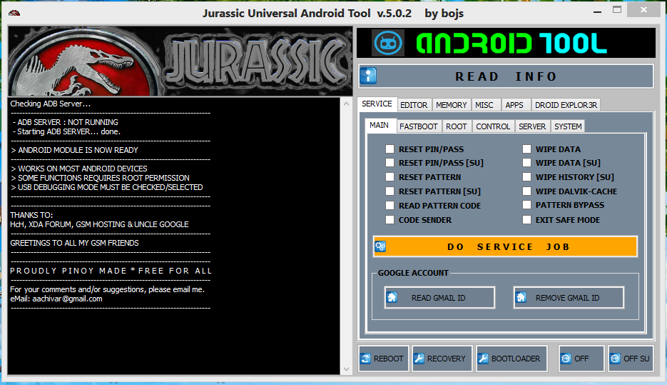 jurassic uniandroid pc