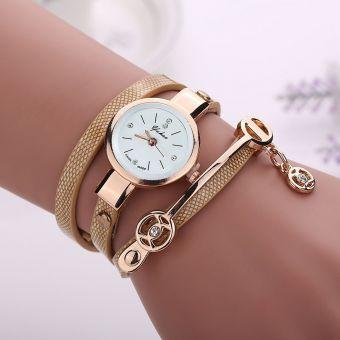 9a1bf0ef736 Nioworld Reloj de pulsera de metal para mujer-Oro
