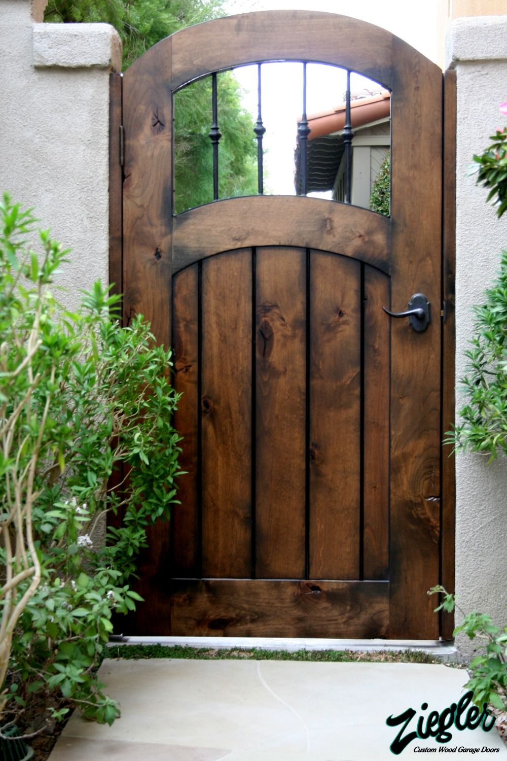 Dark colour polished wooden gate Products I Love Pinterest