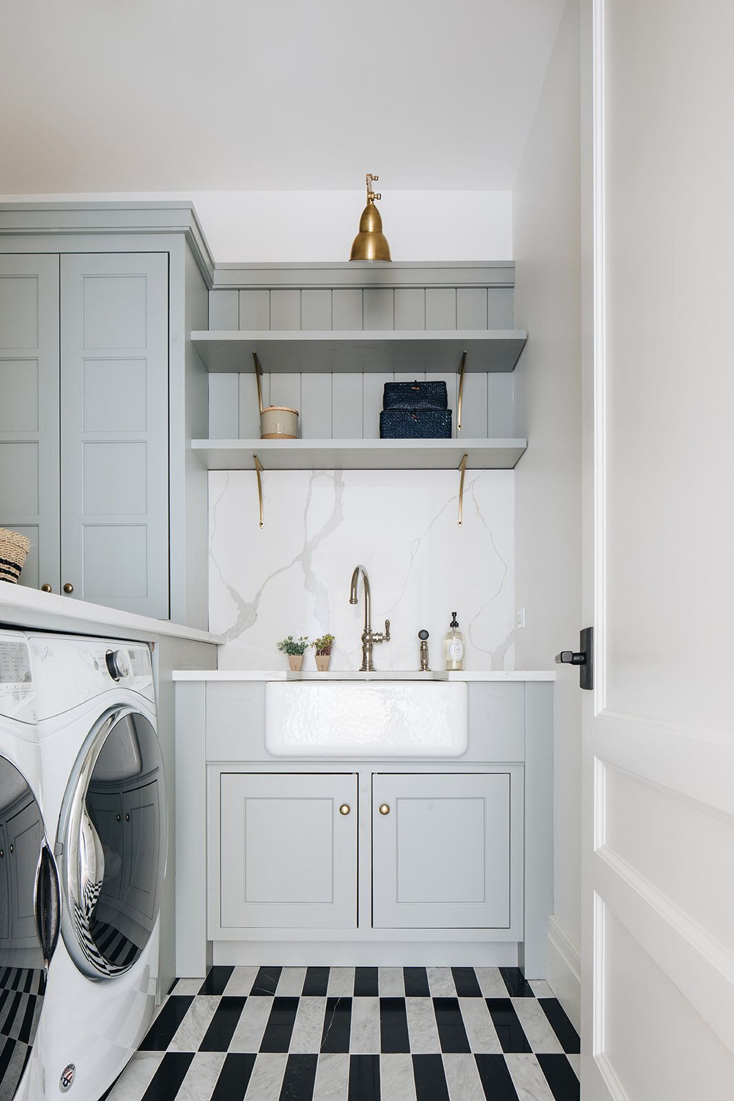 Hickory Project Kate Marker Interiors Grey Laundry Rooms