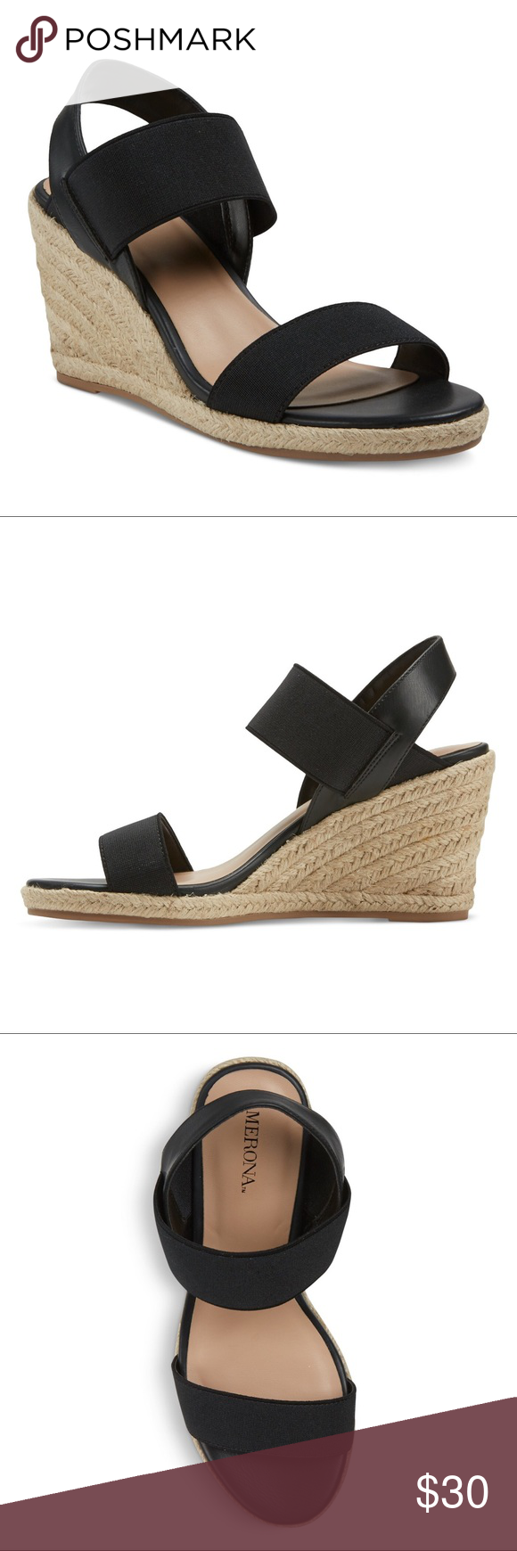 189954d5c1 Merona Janet Elastic Espadrille Wedge Sandals New Brand new with tags.  Available in sizes shown