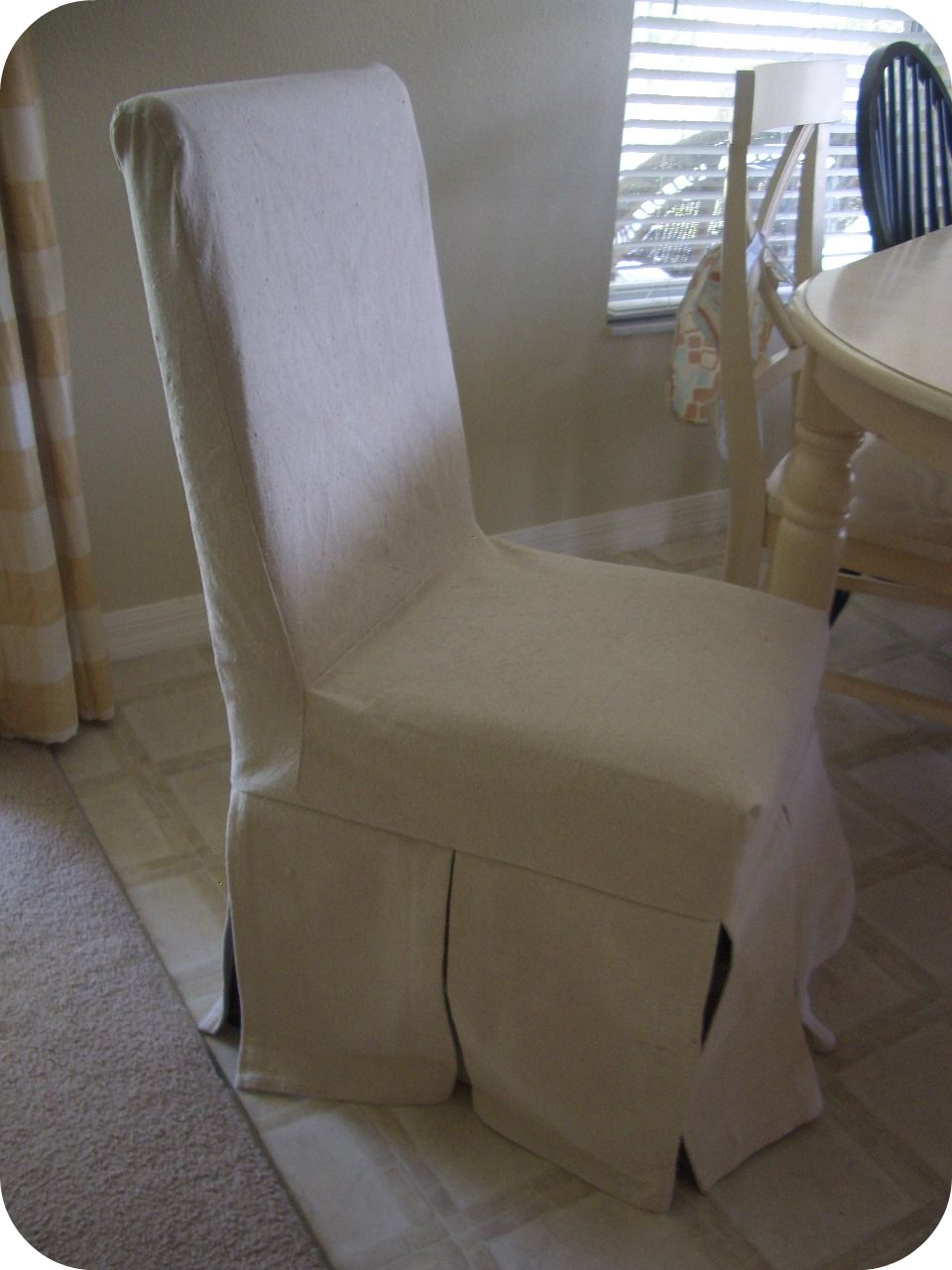 chair dining parson seating slipcover chairs parsons slipcovers denim white