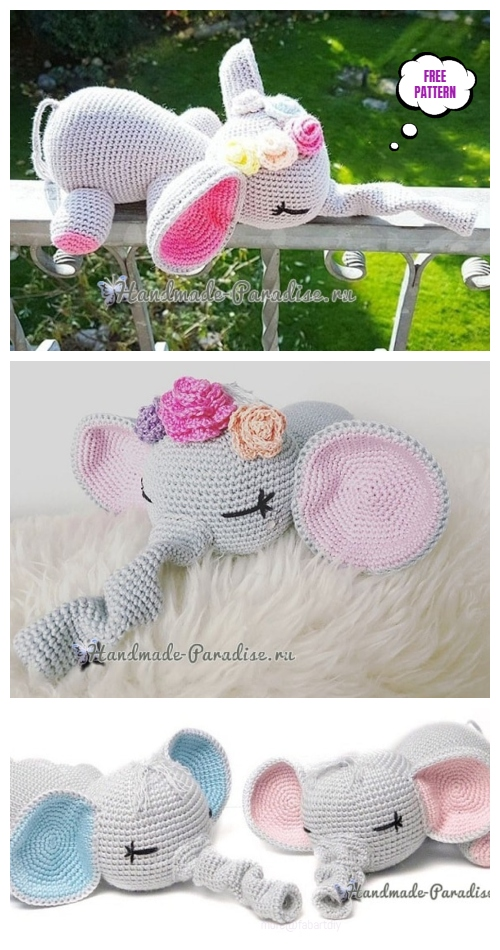 Cutest Elephant Crochet Amigurumi Free Pattern
