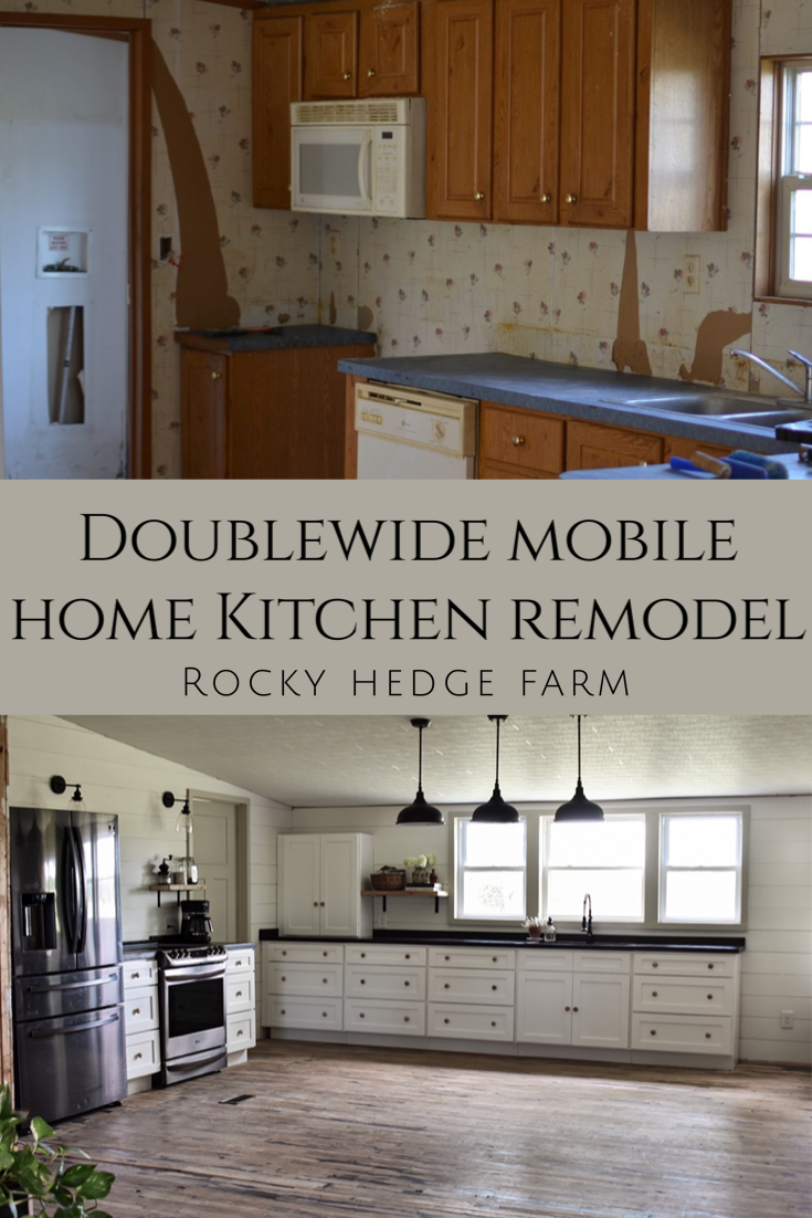 Kitchen Cabinet Remodel On A Budget Rocky Hedge Farm In 2020 Budget Kitchen Remodel Mobile Home Kitchen Kitchen Remodel Small