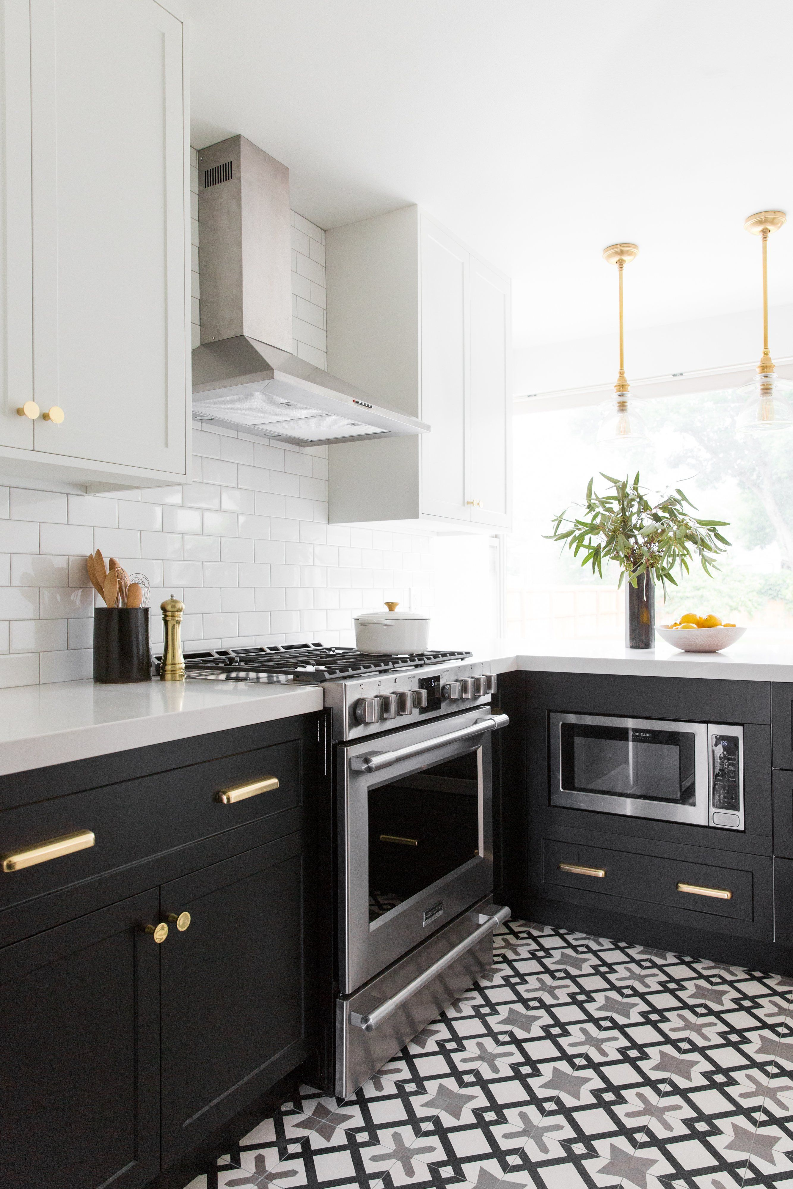 Two Toned Cabinets By Semihandmade For Ikea Kitchens Ikea Blackandwhite Diykitchen Blackan In 2020 Kitchen Remodel Small Galley Kitchen Remodel New Kitchen Cabinets
