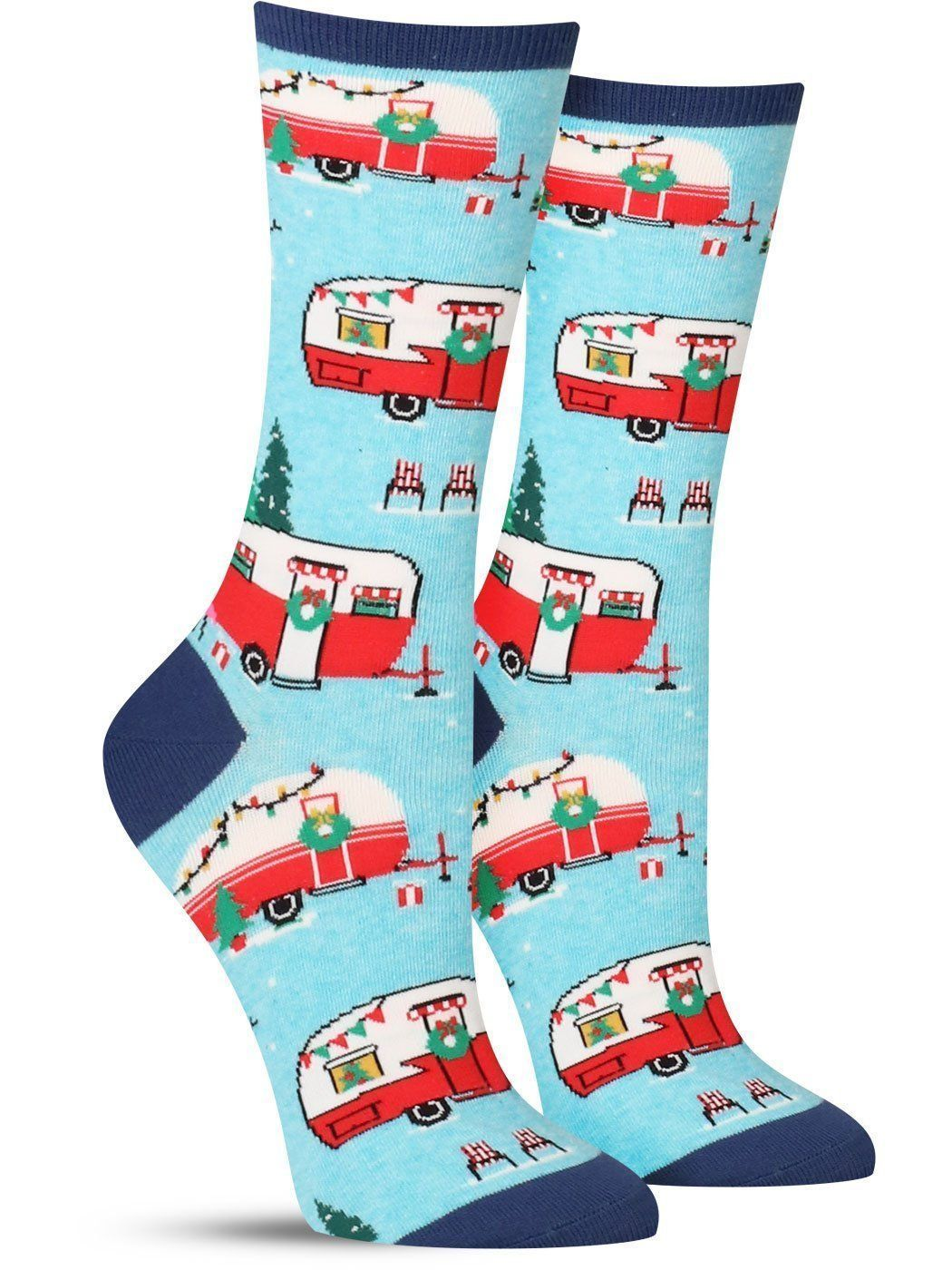 Road To Christmas  2020 Trailer Christmas Campers Socks | Womens in 2020 | Socks women, Holiday