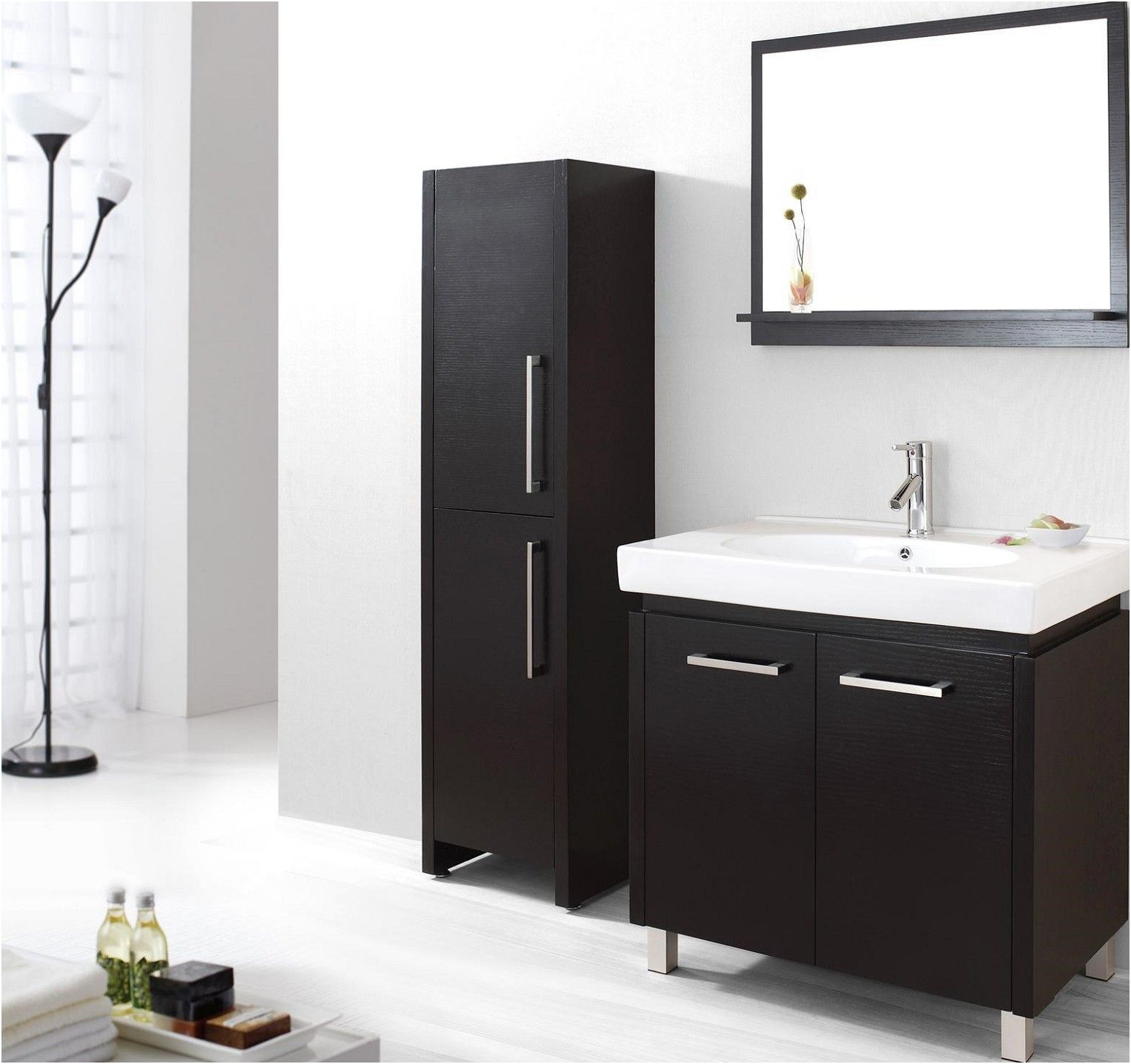 bathrooms black bathroom cabinets and storage units black from Black ...