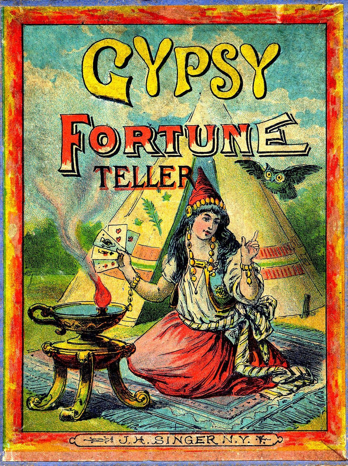 Antique graphic gypsy fortune teller fortune teller