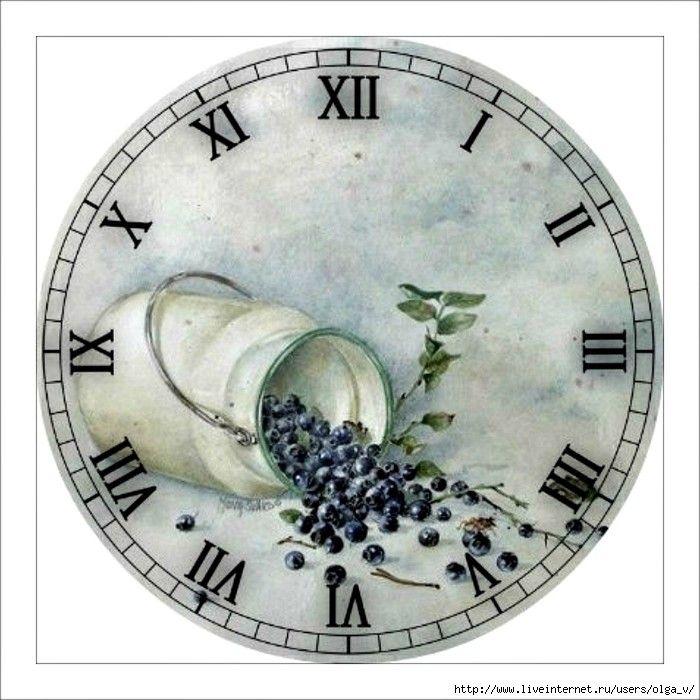 декупаж картинки кухня часы порциями всыпать