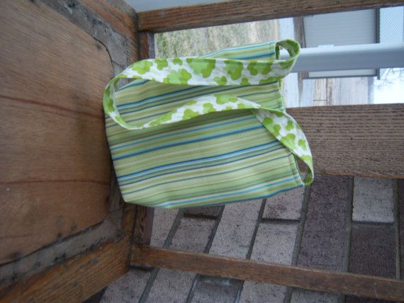 small green stripe purse/bag by SarahCustomSewing on Etsy, $25.00