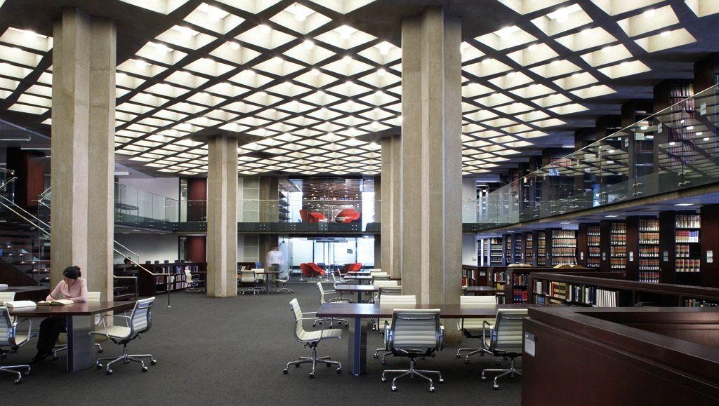 D Angelo Law Library University Of Chicago Eero Saarinen Interior Renovation By Owp P Photo C The University Of Chicago Modern Library Contract Design