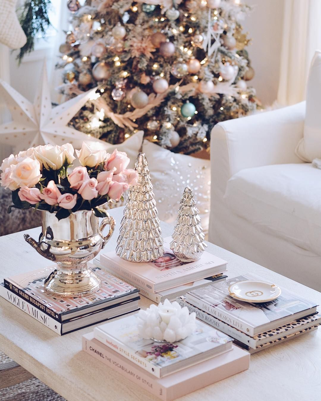 Designs By Ceres On Instagram Happy Saturday Gave Myself Some New Pink Coffee Table Books Cause I Deserve A Toy Too Decor Pink Christmas Home Decor
