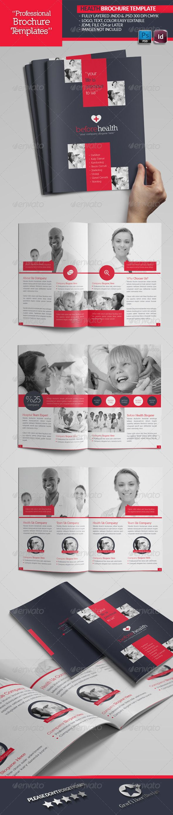Health Brochure Template  Brochure Template Brochures And Template