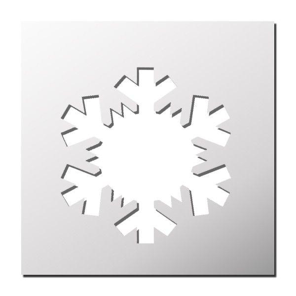 pochoir flocon de neige stencil pinterest flocons de neige pochoir et flocons. Black Bedroom Furniture Sets. Home Design Ideas