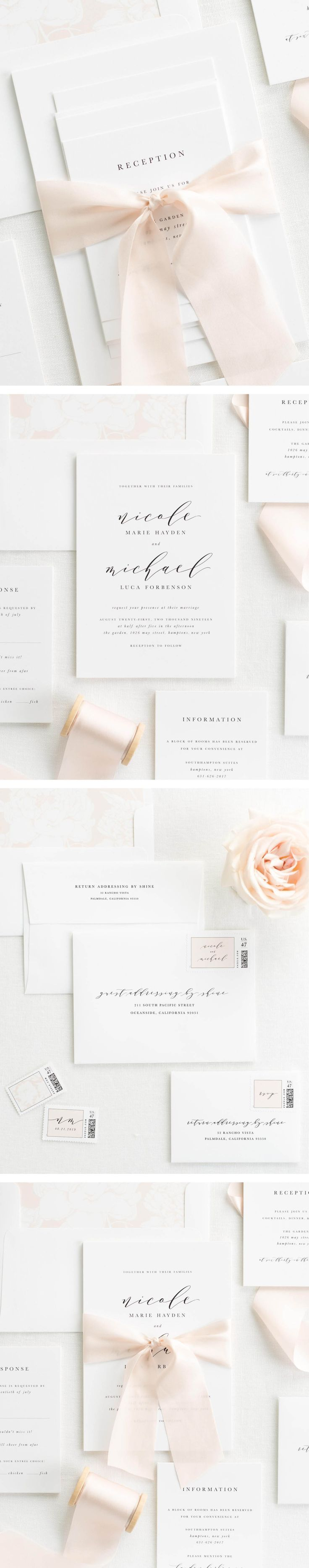 Nicole Ribbon Wedding Invitations