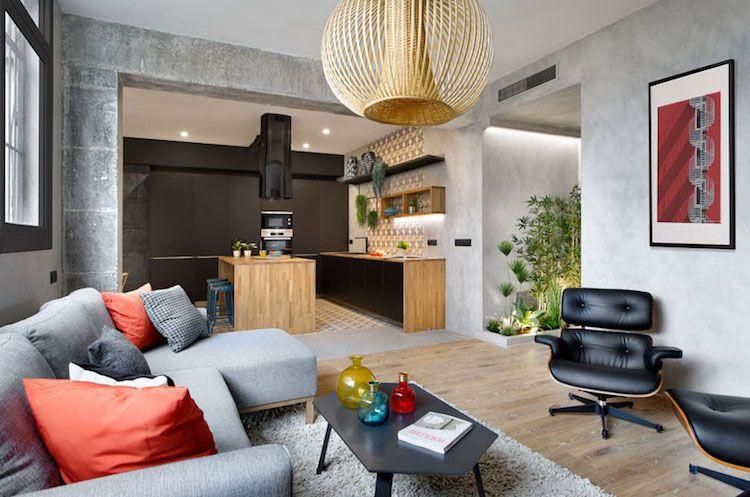 Moderne und verspielte Wohnzimmereinrichtung Inneneinrichtung - moderne wohnzimmereinrichtungen