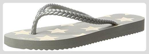 flip flop Damen Slimstar Zehentrenner, Grau (Flint Grey), 38 EU