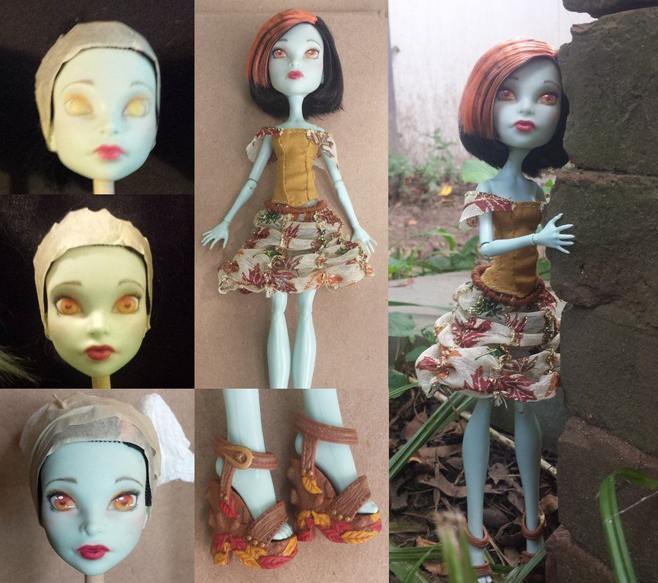 Shira is available in my Etsy store Shira was a lot of fun to work on. I wanted to paint her face so that she was reminiscent of old circus face paint. This was inspired by the Freak du C...