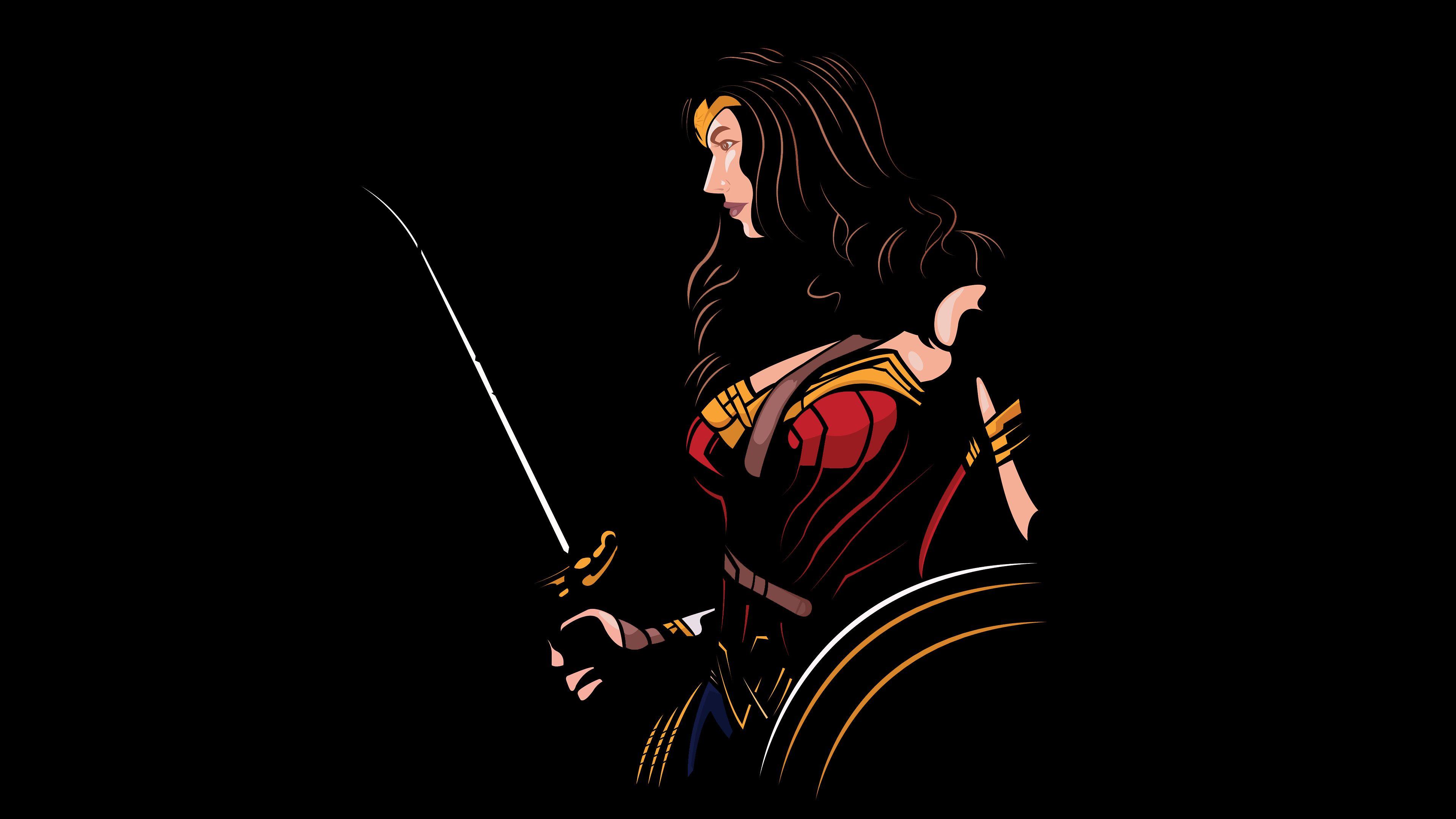 Wonder Woman 4k Minimalism wonder woman wallpapers