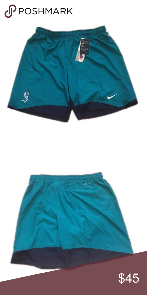 24c6d8e283 Seattle Mariners Nike Men's Dri Fit Shorts XXL 2XL Brand new with tags  officially licensed Seattle Mariners Nike men's dri fit shorts size xxl.  Back pocket.