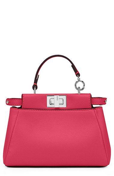 04ae1ba82e Fendi+ Micro+Peekaboo +Nappa+Leather+Bag+(Extra+Small)+available+at+  Nordstrom