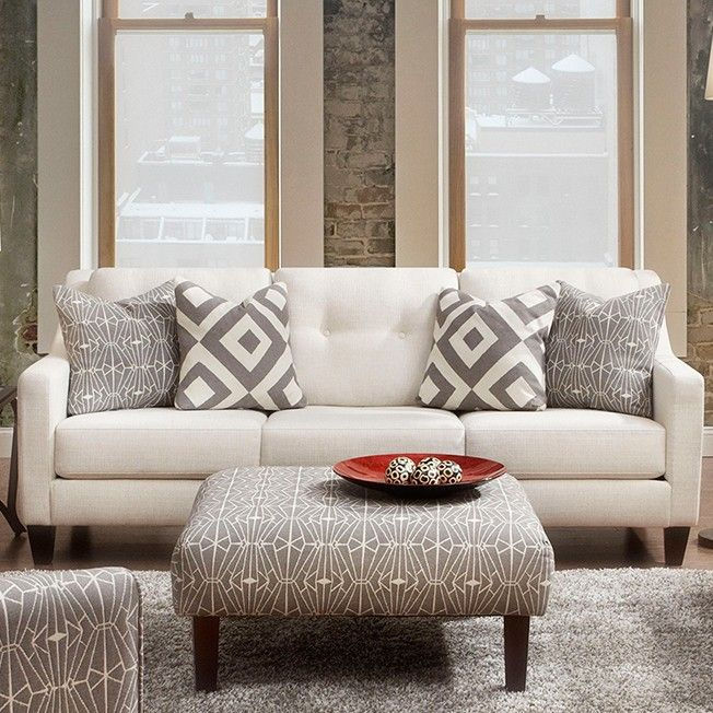 Hand Tufted Sofa In Revolution Stain Resistant Fabric
