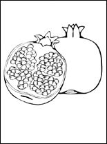 Pomegranate Coloring Page Fruit Coloring Pages Free Kids