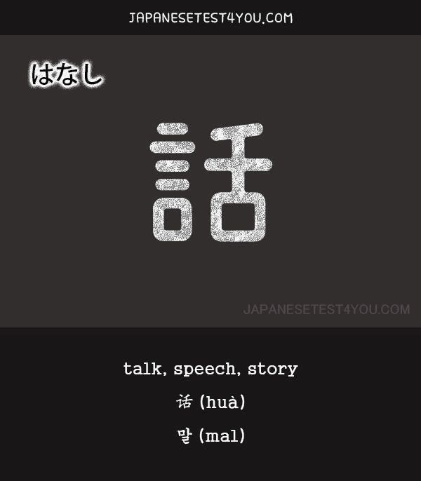 Learn JLPT N5 Vocabulary: 話 (hanashi)