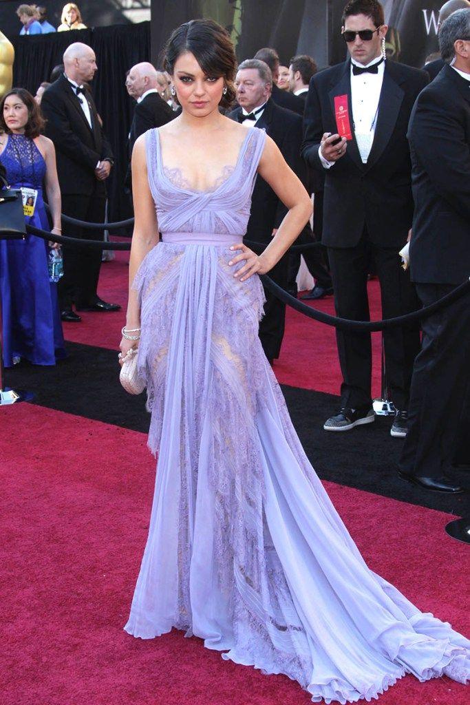 Mila Kunis sheer lavender lace Oscar dress   Red Carpet   Pinterest ...