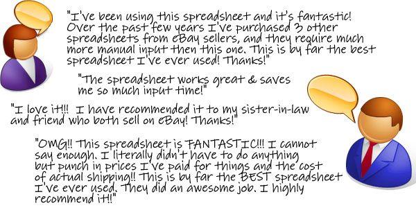 EasyAuctionsTracker The Ultimate eBay Spreadsheet for Sellers - ebay spreadsheet