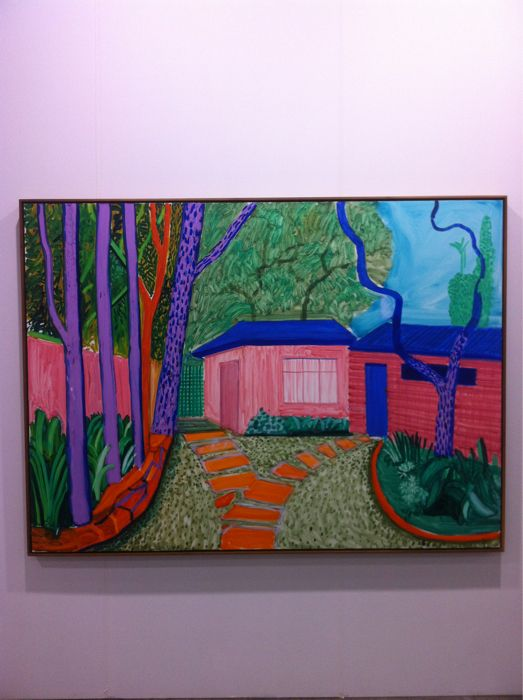 David Hockney: Guest House Garden II