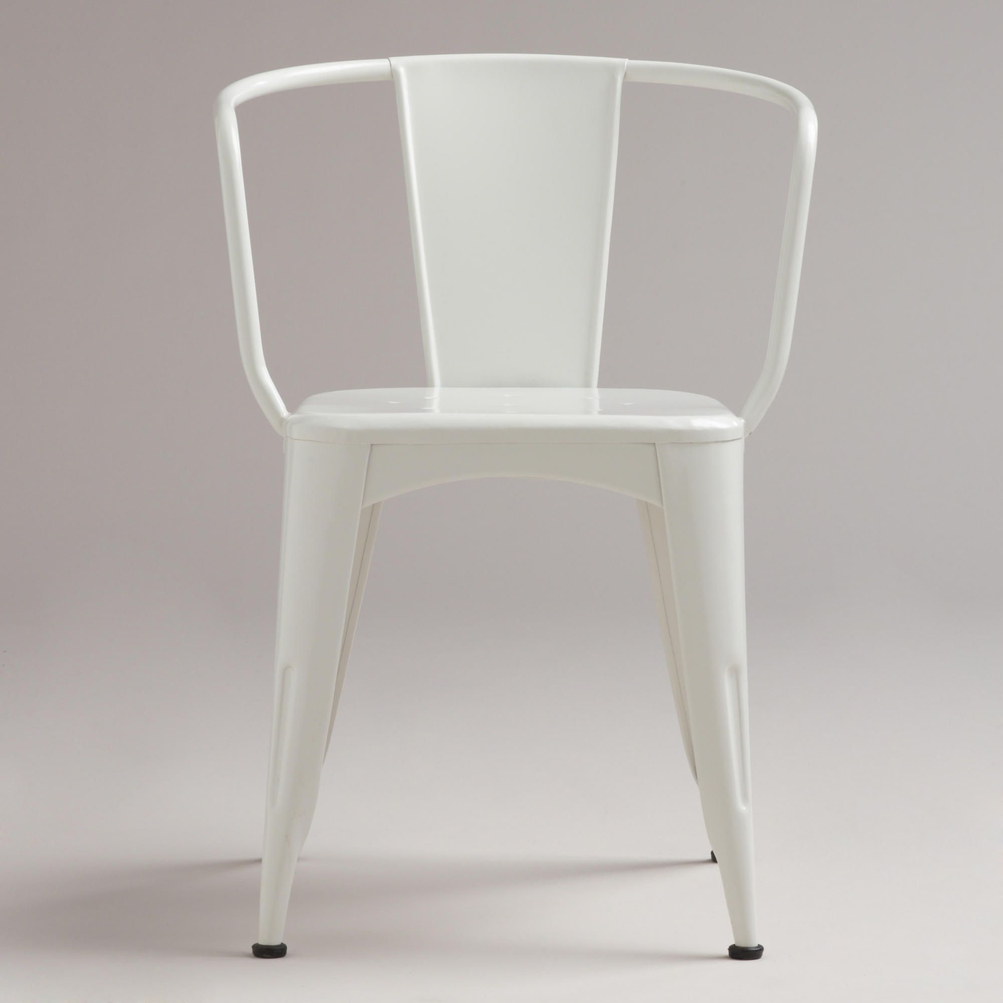 White Metal Tub Chair | World Market - on sale for $55 | For Outside ...