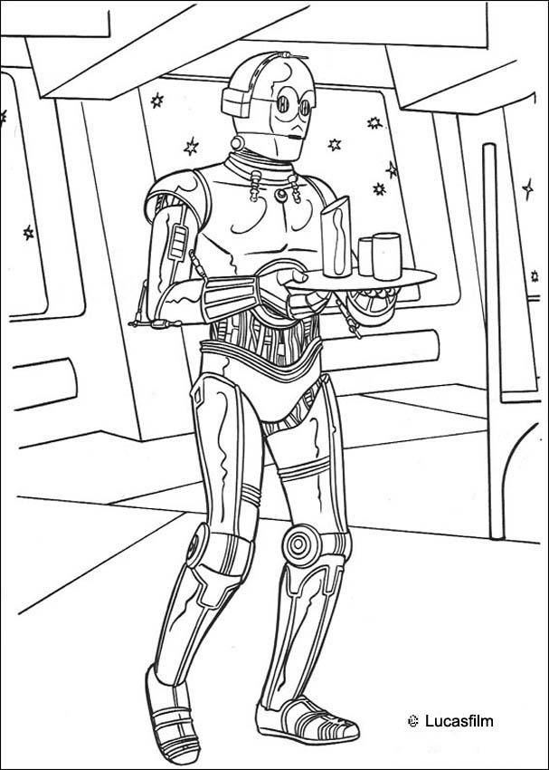 C 3po Coloring Page Star Wars Colors Coloring Pages For Boys
