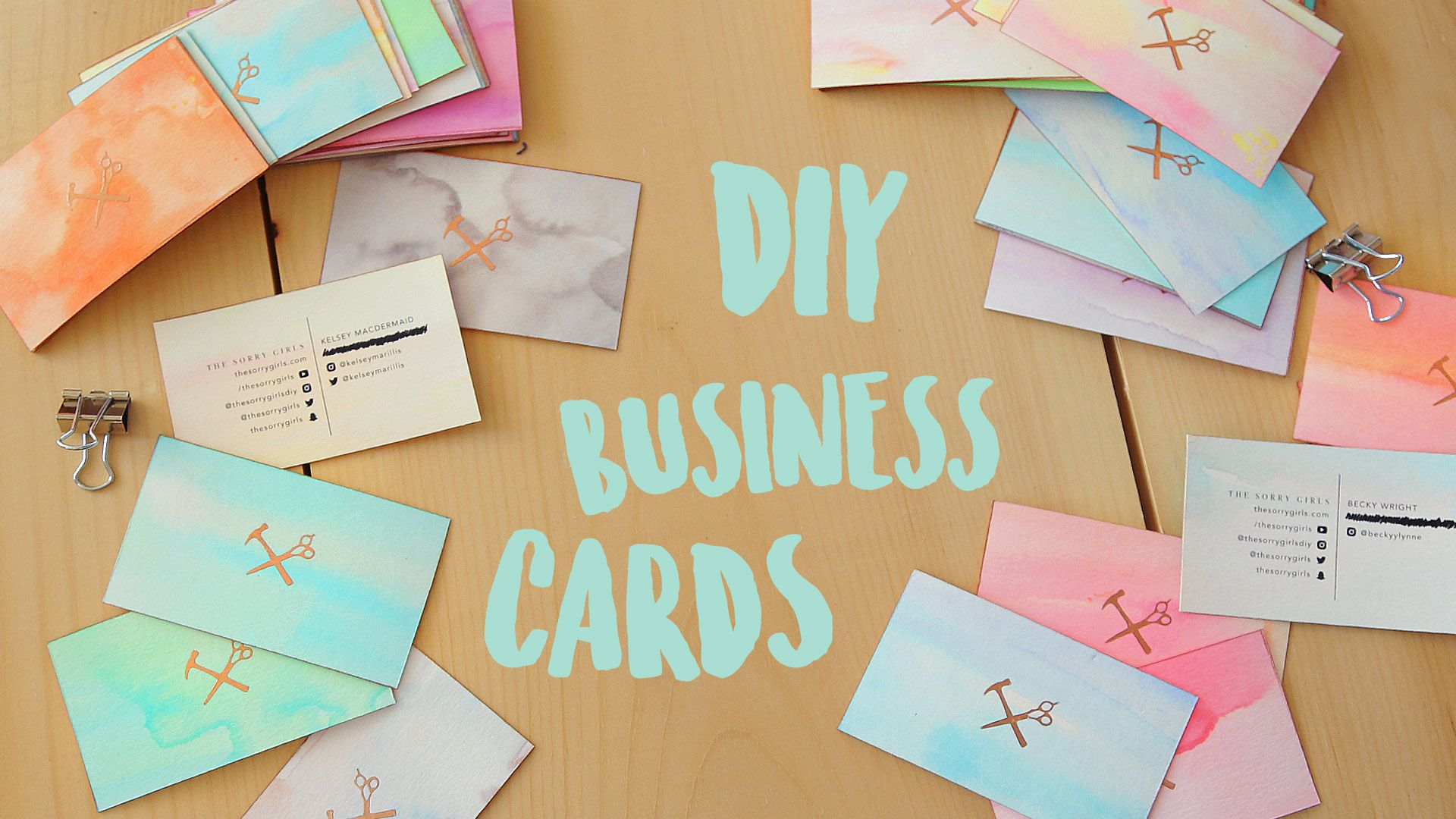 we made our own business cards because: a) it\'s easy b) they\'re one ...
