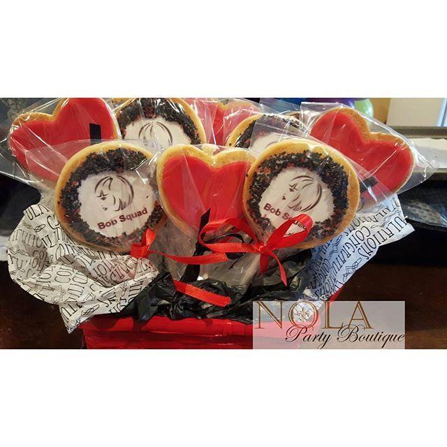 Custom cookie bouquet for a Bachelorette Party. #customcookies #edibleimages #decoratedcookies #bobsquad #bacholeretteparty #cookiebouquet #nolapartyboutique www.nolapartyboutique.com