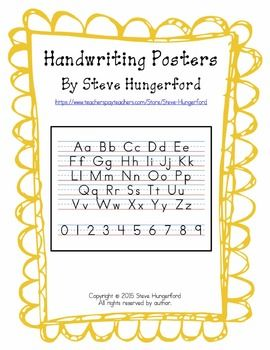 This File Has Handwriting Posters The Posters Show Each Uppercase