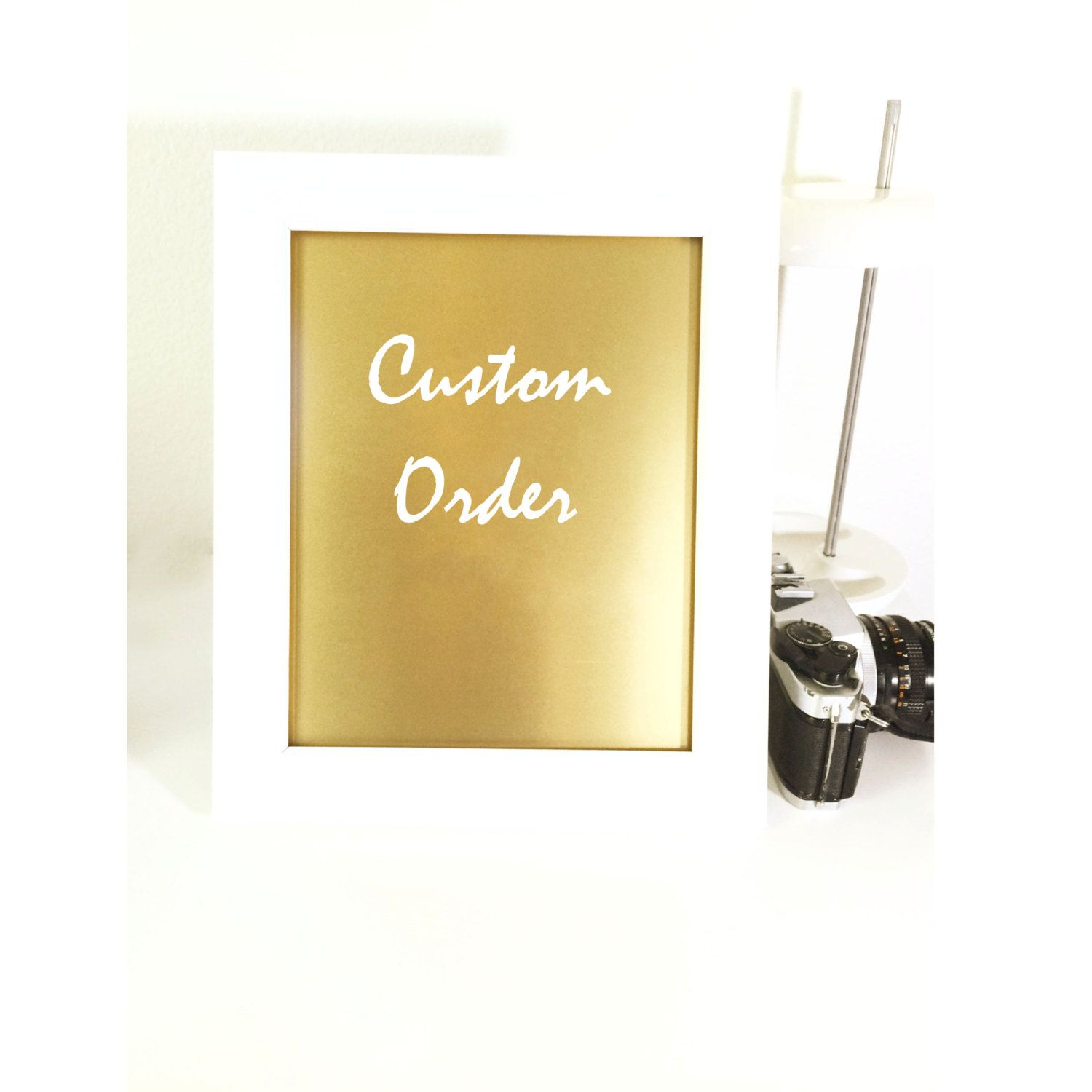 Custom Order Print, Wall Art, Gold Print, Wall Prints, Quote Print ...