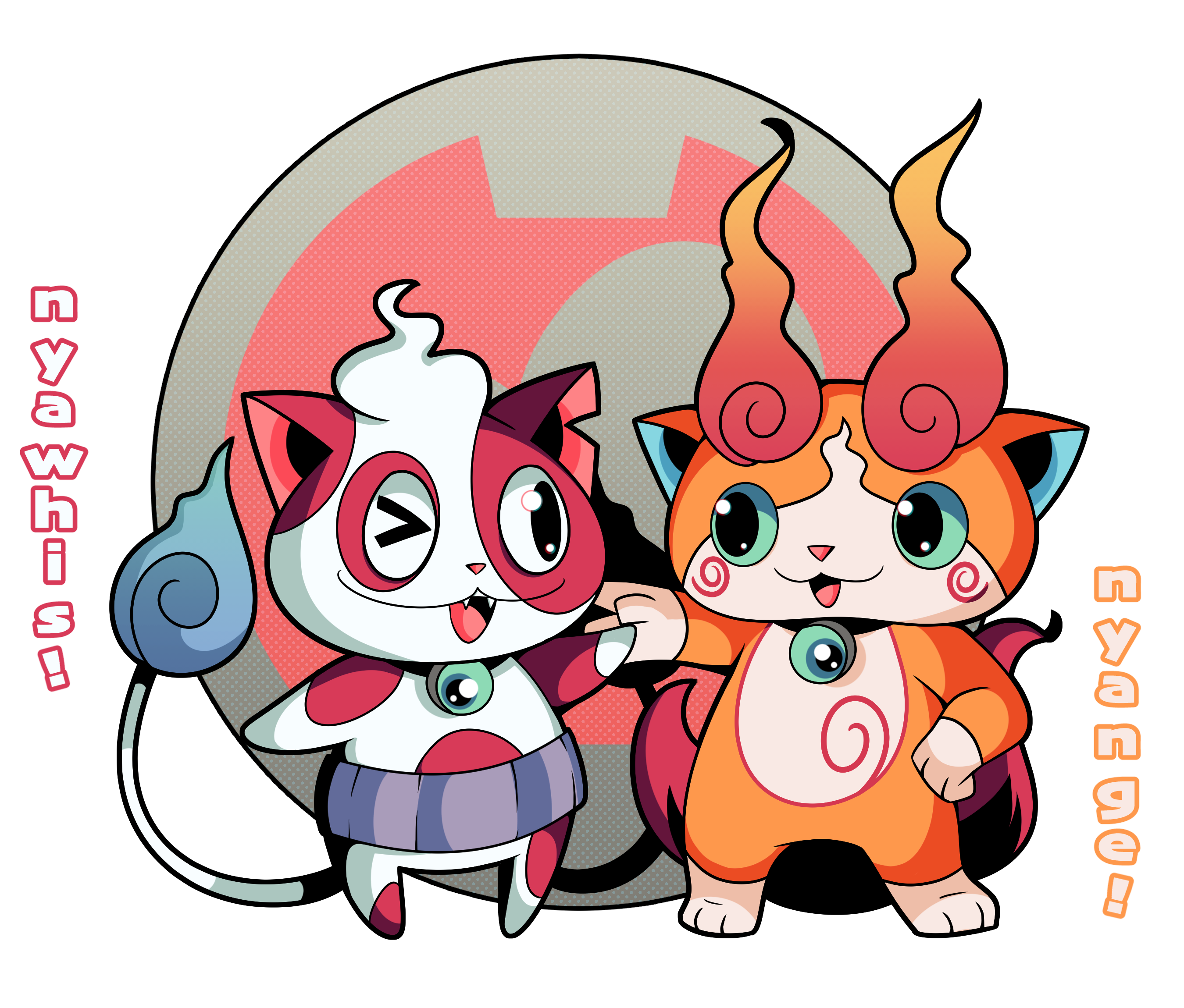 Jibanyan fusions by rakurika on deviantart yokai for Chambre yo kai watch