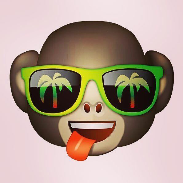 cool emoji monkey  emoji  emojilove  emoji4emoji
