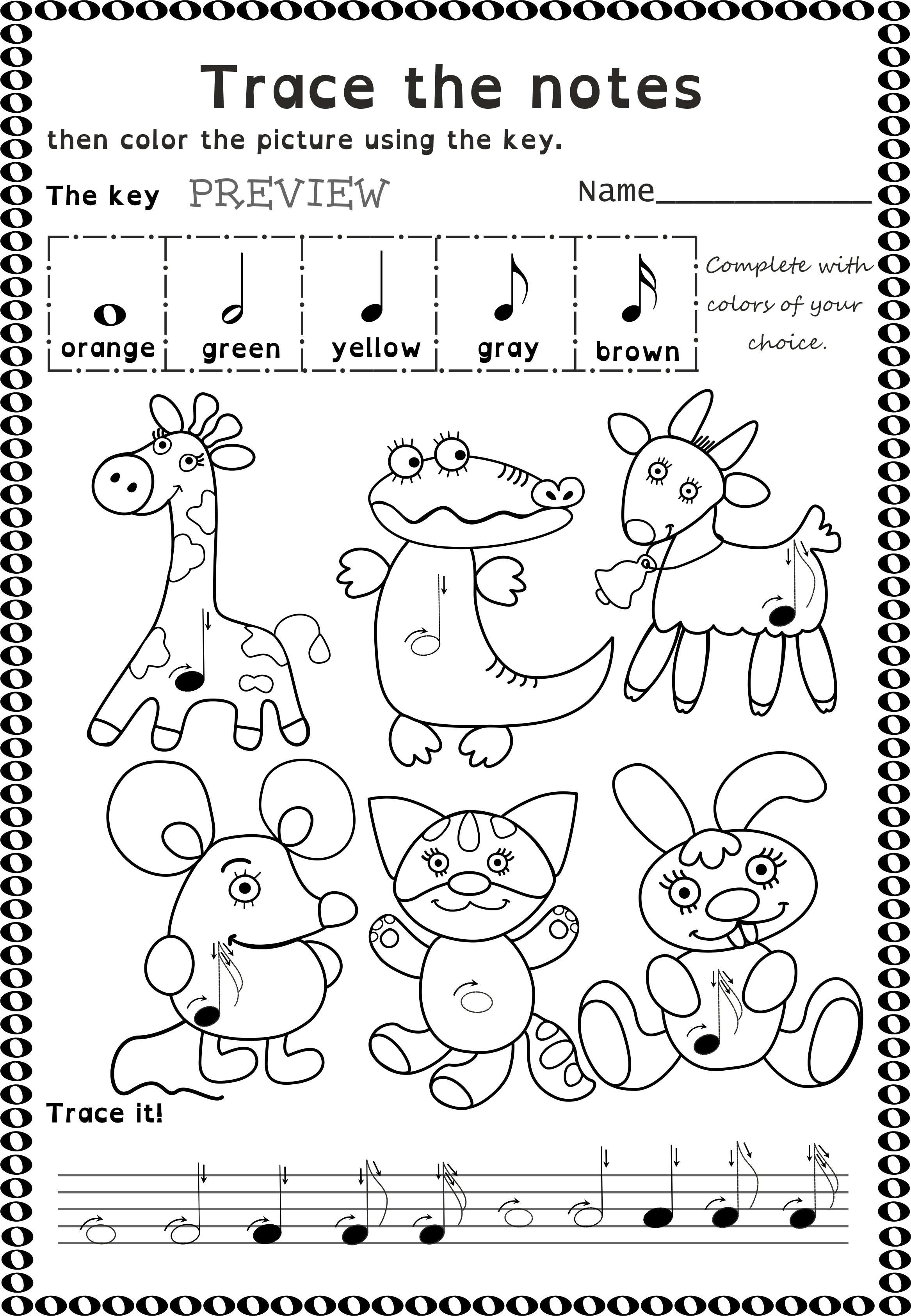 14+ Musical worksheets for kids Wonderful