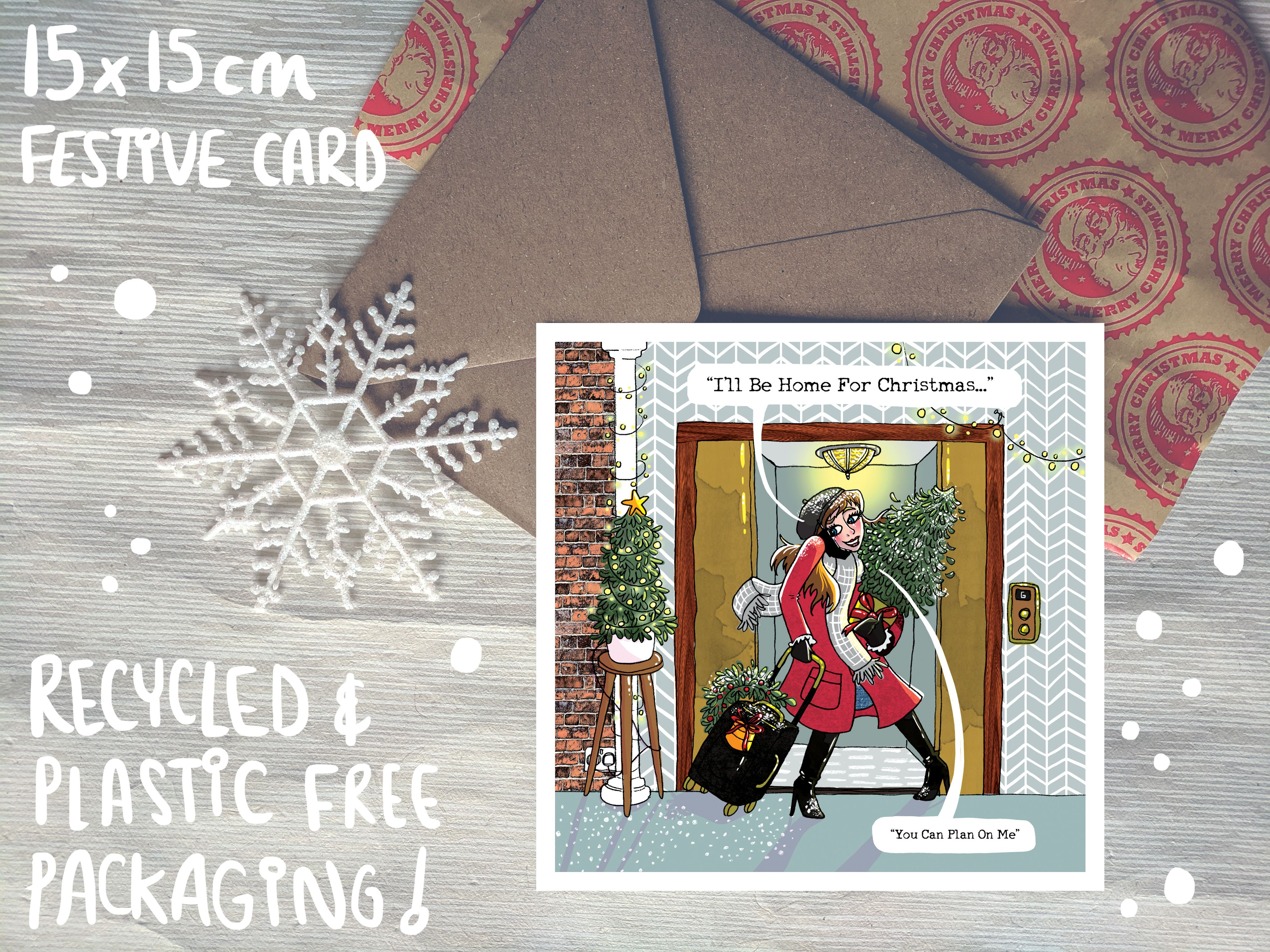 Pack Of 5 Illustrated Christmas Cards Etsy Christmas Card Illustration Christmas Cards Etsy Christmas Cards To Make