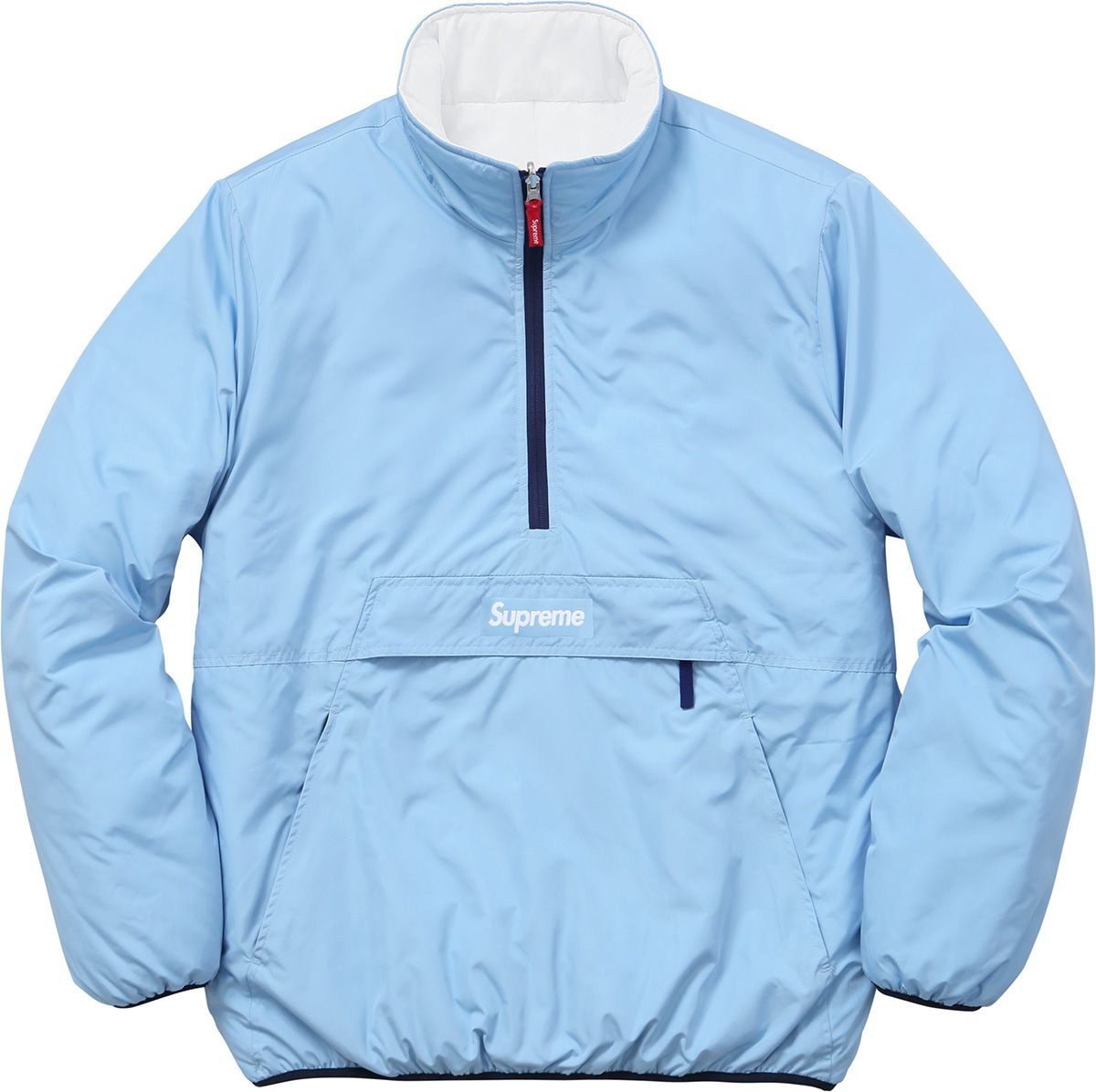 Supreme Reversible Pullover Puffer Jackets Pullover Jacket Puffy Jacket [ 1196 x 1200 Pixel ]