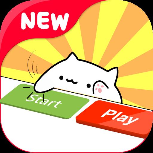 Bongo Cat Meow Musical Instruments Cat Text Stuffed Animal Cat Cats Meow