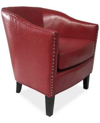 Lawson Faux Leather Accent Chair With Images Red Accent Chair