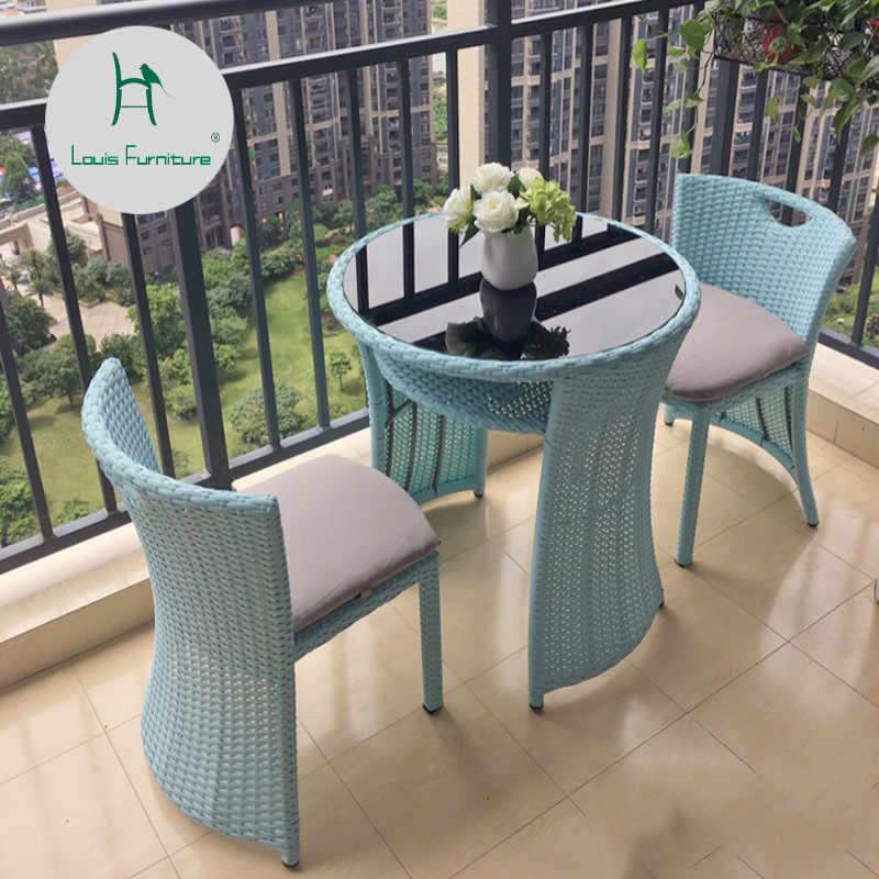 Louis Fashion Garden Sets Outdoor Chairs Balcony Tea Table Rattan