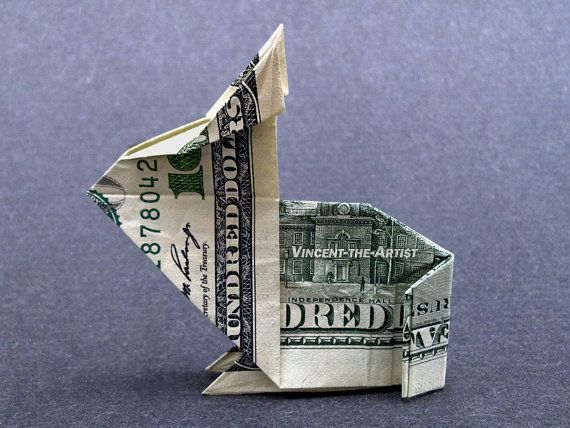 Bunny Rabbit Money Origami Made With 100 Bill Origami